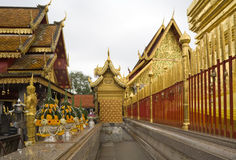 Doi Suthep, temple in Chiang Mai, Thailand. Is a historically  landmark Royalty Free Stock Image