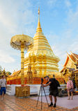 Doi Suthep temple, landmark of Chiang Mai, Thailand Royalty Free Stock Photo