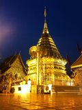 Doi Suthep temple. At Night ,Chiangmai Stock Photo