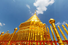 Doi Suthep. Wat Phra That Doi Suthep is the most famous temple in Chiang Mai.Northern  Thailand Royalty Free Stock Images