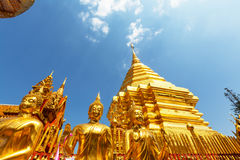 Doi Suthep. Wat Phra That Doi Suthep is the most famous temple in Chiang Mai.Northern  Thailand Stock Photo