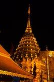 doi złotej noc pagodowy suthep wat Zdjęcia Stock