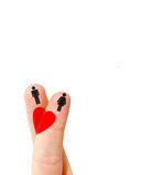 Doigt d'amour Image libre de droits