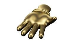 Doigt d'or, main ouverte illustration 3D illustration libre de droits