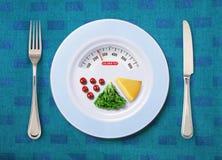Doigt de calorie de nourriture photographie stock