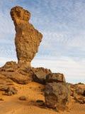 Doigt de formation de roche d'Allah - montagnes d'Akakus Images stock