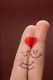Doigts dans l'amour Image libre de droits