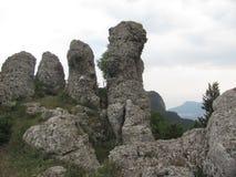 Doigts de la roche cinq Photo stock