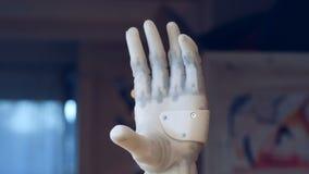 Doigts de recourbement de main robotique, fin  clips vidéos