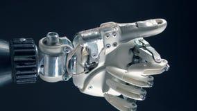 Doigts en mouvement d'une main robotique, proshtesis cybernétique banque de vidéos