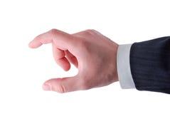 doigts s d'hommes d'affaires affichant la taille Photo stock