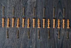 Doigts sur le fond en bois Image libre de droits
