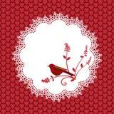 Doilie bonito e pássaro ilustração royalty free