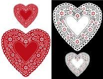 Doilies van het hart, Sterren (jpg+eps) Royalty-vrije Stock Afbeeldingen