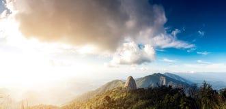 DoiLuang moutain ` s全国地质公园, Phayao,泰国 库存照片