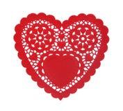 doily καρδιά Στοκ Εικόνες