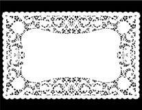 doily λευκό θέσεων χαλιών δαντελλών Στοκ φωτογραφία με δικαίωμα ελεύθερης χρήσης