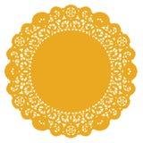 doily χρυσός κύκλος δαντελλών απεικόνιση αποθεμάτων