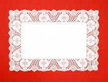Doily branco real extravagante Fotografia de Stock Royalty Free