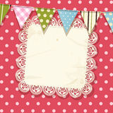 Doily and bunting background Stock Photography