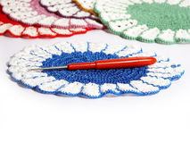 Doily and crochet Stock Photography