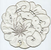 Doily with embroidery Rococo Royalty Free Stock Images