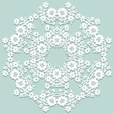 doily handmade koronka Pięknego eleganckiego rocznika trykotowy koronkowy napk royalty ilustracja