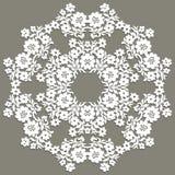doily handmade koronka Pięknego eleganckiego rocznika trykotowy koronkowy napk ilustracji