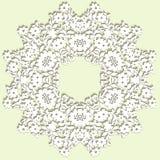 doily handmade koronka Pięknego eleganckiego rocznika trykotowy koronkowy napk ilustracja wektor
