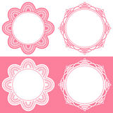 Doily icons. Set of doily icons. Vector illustration Stock Photo