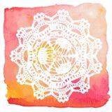 Doily laçado elegante. Fazer crochê a mandala. ilustração stock