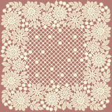 Doily. Lace. Frame. Royalty Free Stock Photography