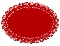 doily lace mat place red Стоковая Фотография