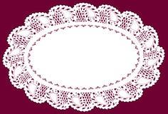 doily lace placemat Στοκ Φωτογραφίες