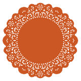 doily lace pumpkin round 库存照片