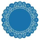 doily lace round turquoise Стоковые Изображения