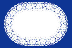 Doily oval do laço, azul (jpg+eps) Fotografia de Stock Royalty Free