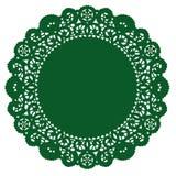 Doily rotondo del merletto di +EPS, smeraldo Fotografie Stock
