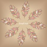 Doily round lace pattern. Circle background with many details Stock Photo