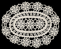 Doily square ornament Stock Photography