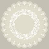 Doily with traditional Hungarian white embroidery from Kalocsa Stock Photos