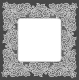 Doily. White Lace Frame. Royalty Free Stock Photos