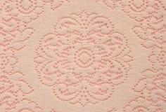 doilyen snör åt rosa soft Arkivfoto
