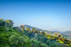 Doimaesalong chiangrai thailand. Shoot on the mountain Stock Image