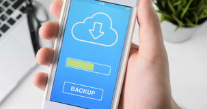 Doing backup of files on the smartphone