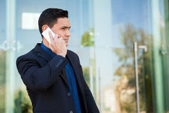 Doing business over the phone Royalty Free Stock Photography