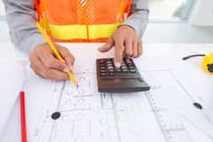 Doing calculations Royalty Free Stock Photo