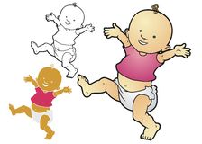 Doing the Diaper Dance Stock Images
