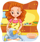 Doing dishes Stock Photo