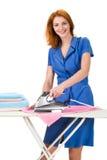Doing domestic chores Stock Photo